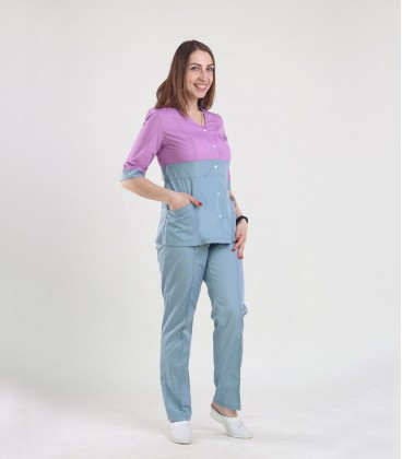 Медицинский костюм 0051-3 Рокси батист сирень