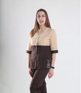 Медицинский костюм 0051-9 Рокси батист бежевый