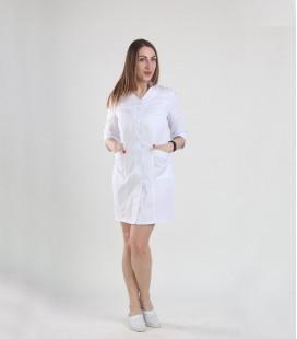Медицинский халат 0049-3 Амина белый