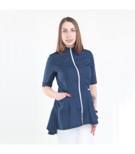 Медицинская куртка 1373-1 Фарида синяя