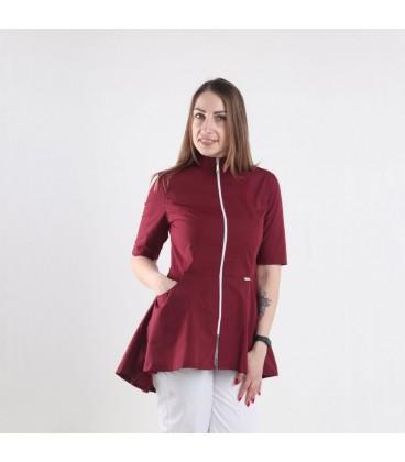 Медицинская куртка 1373-5 Фарида бордо
