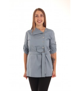 Женская медицинская куртка топ Валада - 5131 серый цвет