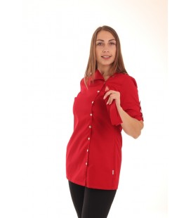Медицинская куртка красная