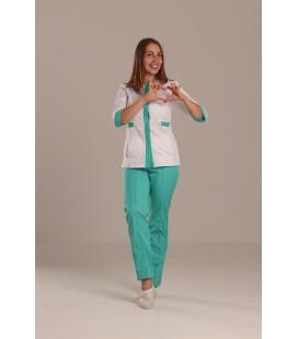 Медицинский костюм 0083-1 Валерия коттон яблоко