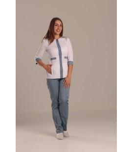Медицинский костюм 0083-4 Валерия коттон серый