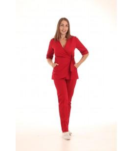 Медицинский костюм 7001 Рамина коттон крассный