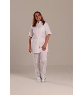 Женский медицинский костюм 1213-2 Леся , цвет белый