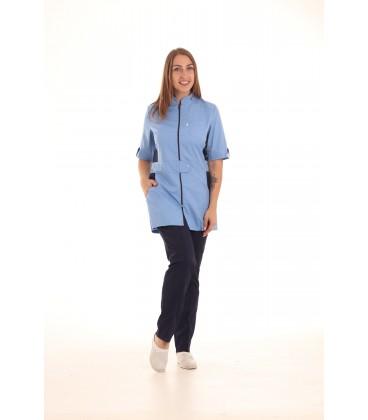 женский медицинский костюм 1213-4 Леся голубой