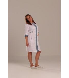 Медицинский халат Валерия 0077-2 с серым коттон
