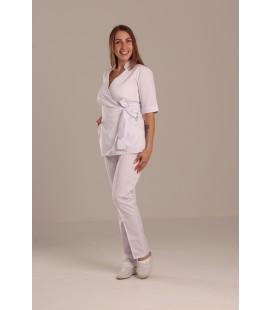 Медицинский костюм 7008 Рамина коттон белый