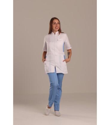 женский медицинский костюм 1213-5 Леся голубой