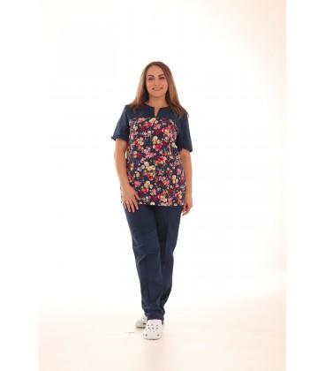Медицинский костюм 0052 Фиалка цвет темно - синий