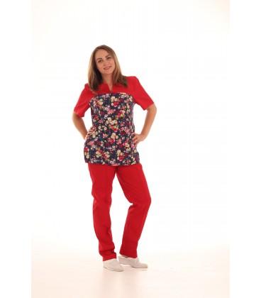 женский медицинский костюм 0052-2 Фиалка