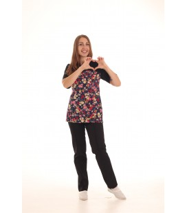 Женский медицинский костюм 0052-1 Фиалка цвет черный