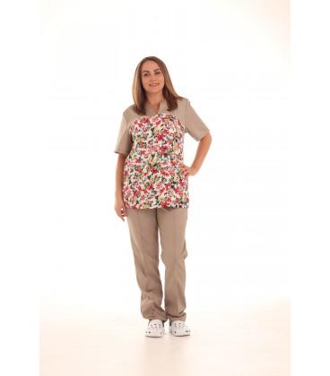 Женский медицинский костюм 0052-11 Фиалка цвет бежевый