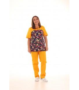 Женский медицинский костюм 0052-3 Фиалка цвет желтый
