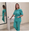Медицинский костюм 7002-6 Сильвия яблоко