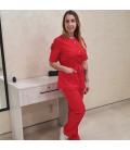Медицинский костюм 7002-7 Сильвия красный