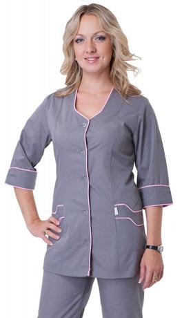 женский серый медицинский костюм