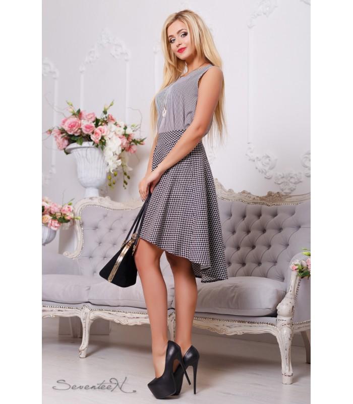 ассимитричная женская юбка