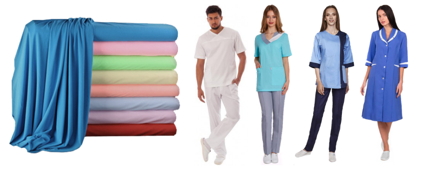 Основные виды ткани для производства медицинской одежды